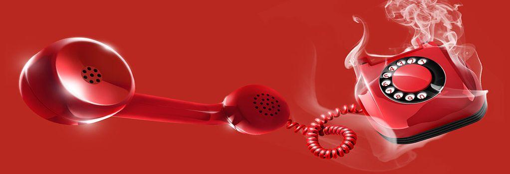 Тут изображена бешеная телефонная трубка красного цвета означающая горячую линию ТЦ Премьера