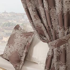 Готовые шторы Ажур трюфель