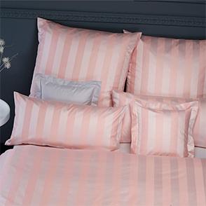 Комплект постельного белья Curt Bauer Como kirsche полоса (розовый)